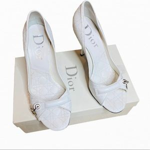 Dior Quilted Leather Cannage Nappa Heels  Size 39